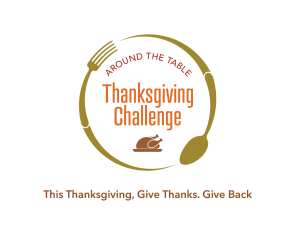 GW thanksgiving challenge logo with tag line